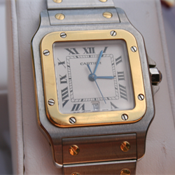 One Bespoke - Cartier Mens Santos Steel and Yellow Gold